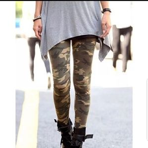 Camouflage soft leggings
